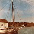 Ship At Dock by Jill Battaglia