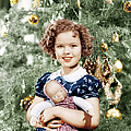 Shirley Temple Holding Doll by Everett