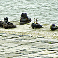Shoes On The Danube Bank - Budapest by Jon Berghoff