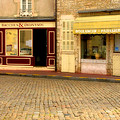 Shops In Beaune France by Greg Matchick