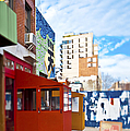 Shops On A City Street by Eddy Joaquim