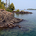 Shore Of Isle Royale by Ted Kinsman