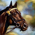 Show Horse Painting by Michelle Wrighton