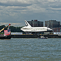 Shuttle Enterprise Flag Escort by Gary Eason