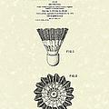 Shuttlecock 1976 Patent Art by Prior Art Design