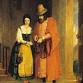 Shylock And Jessica From 'the Merchant Of Venice' by Gilbert Stuart Newton