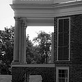 Side View South Portico Bw by Teresa Mucha