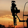 Silhouette Of A M240g Medium Machine by Terry Moore