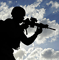 Silhouette Of A Soldier by Stocktrek Images