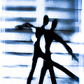 Silhouette Of Dancers by David Ridley