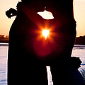 Silhouette Of Romantic Couple by Cindy Singleton