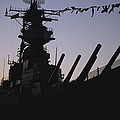 Silhouette Of The Battleship U.s.s by O. Louis Mazzatenta