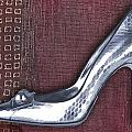 Silver Crocodile Pump by Elaine Plesser