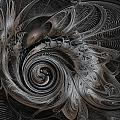 Silver Spiral by Amanda Moore