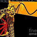 Sine Wave Machine Landscape 1 by Russell Kightley