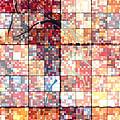 Sinful Geometric Red by Mayhem Mediums