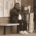 Sitting At The Train Stop by Lennie Malvone