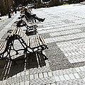 Sitting In The Park - Madrid by Mary Machare