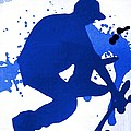 Skateboarder Blue by Florene Welebny