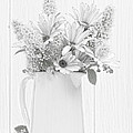 Sketched Vase Of Flowers by Amanda Elwell