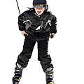 Skier Flying by Susan Leggett