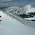 Skier Phil Atkinson Begins His Descent by Tim Laman