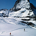 Skiers At The Matterhorn by Carl Purcell