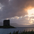 Skies Ablaze At Castle Stalker by Howard Kennedy