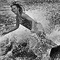 Skimmer Girl 1 Black And White by Wade Aiken