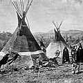 Skin Tepees, Shoshone Indians. Ca by Everett