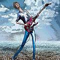 Skinny Guitar by Rick Borstelman