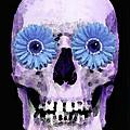 Skull Art - Day Of The Dead 3 by Sharon Cummings