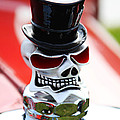 Skull With Top Hat Hood Ornament by Garry Gay