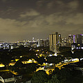 Skyline Of A Part Of Singapore At Night by Ashish Agarwal