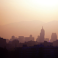 Skyline Of Downtown Santiago De Chile, Chile by Jose Luis Stephens