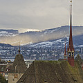 Skyline Of Zurich From The University by Greg Dale