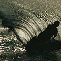 Slalom Waterskier Silhouette by Skip Brown