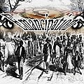 Slaves Traveling To Freedom Land by Belinda Threeths