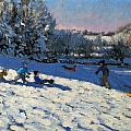 Sledging Near Youlgreave by Andrew Macara