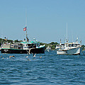 Sleepy Boats At Chatham - Cape Cod  Ma by Mother Nature