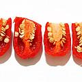 Sliced Red Peppers by Gaspar Avila