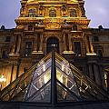 Small Glass Pyramid Outside The Louvre by Axiom Photographic