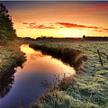 Small River At Sunrise by H-L-Andersen