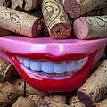 Smile Among Wine Corks by Garry Gay