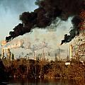 Smoke Billows From The Exxon Oil by Sam Kittner