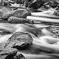 Smokey Mountain Stream Of Flowing Water Over Rocks by Randall Nyhof