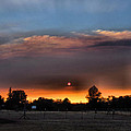 Smoky Sunset Wide Angle 08 27 12 by Joyce Dickens