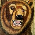 Snarling Grizzly by Debbie LaFrance
