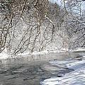Snow At The Creek by Juanita L Ruffner