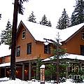 Snow Atop The Inn At Longmire by Kathy  White